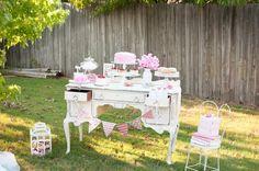 Vintage Rose Tea Party Planning Ideas Supplies Idea Garden Decor Cake