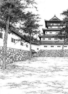 Drawing Scenery, Background Drawing, Manga Illustration, Landscape Illustration, Manga Drawing, Manga Art, Cityscape Drawing, Nature Sketch, Aesthetic Japan