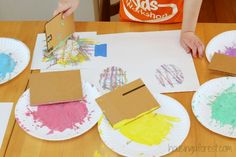 Easter art activities for kids ~ Toddler Easter Egg Crafts using recycled stamps