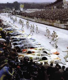 Le Mans '69.  Back in the days when the race would commence with a sprint to the vehicles.