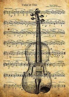 Print Art Collage Mixed Media Violin Illustration Poster by rcolo - Contribut . - Print Art Collage Mixed Media Violin Illustration Poster by rcolo – Contribut … - Sheet Music Art, Music Paper, Art Music, Paper Art, Paper Drawing, Music Collage, Music Decor, Book Page Art, Book Pages