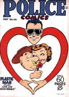 Cover for Police Comics (1941 series) #66 by the great Jack Cole.