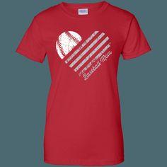 Heart Flag - Baseball - Women's Relaxed Fit