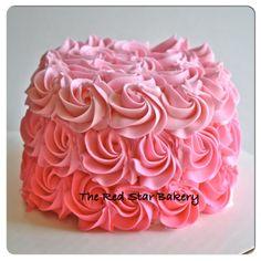 Pink Ombre Smash Cake.. grandma @Juanita Gomez Cabrera going to make it for her princess!