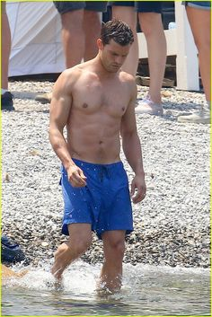 Jamie Dornan's Wife Amelia Warner Joins Him for 'Fifty Shades' Beach Scenes!
