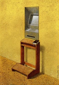 Satiric Illustrations about modern times by Pawel Kuczynski