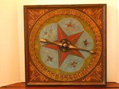 Primitive Roulette  Game Board Folk Art Horse by JohnnyUNamath..love the colors....
