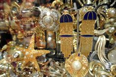 Grays Mews is home to London's largest collection of vintage costume jewellery.  Come and discover a vast range including signed pieces from famous fashion houses to rare Art Deco delights and bold statement pieces from the 1980s. There is something for everyone. www.graysantiques.com