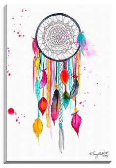 Dream Catcher by Kelsey McNatt Painting Print on Canvas                                                                                                                                                      More