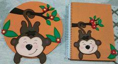 Enfeite de porta e cadernos, Baby Zoo