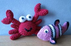 amigurumi free PATTERN- Fish & Crab