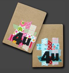 Notebooks decorated with washi tape
