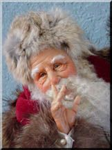 Santa by Mark A. Dennis - Hush - close-up of Santas face.