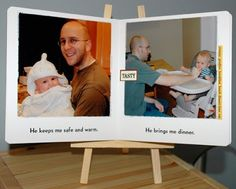 """DIY Book, """"I love my daddy because . . ."""" I made one for our first father's day. Now I need to find a similar book for baby #2."""