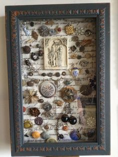 I collect antique buttons and pins, bought a shadow box and displayed all my collection.