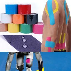 5 메터 * 5 센치메터 혼방 탄성 붕대 스포츠 테이프 롤 운동 요법 접착 근육 부상을 지원 물리 치료사 케어 스트랩 스티커
