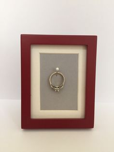 Perfect to hang your ring while you sleep, shower, clean or wash dishes!!!  Wedding/Engagement Ring Holder by EskimoKissesDIY on Etsy