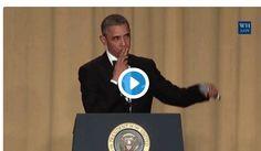 Watch #ObamaOut Jokes on Trump, Clinton & CNN At Final White House Correspondents' Dinner http://scanfact.blogspot.com.ng/2016/05/watch-obama-jokes-on-trump-clinton-cnn.html