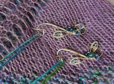 Dragonfly Portuguese Pin for knitting.  Hand crafted by Everyday Peacock