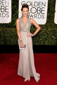 Golden Globes Top Trends: Disco Ball, Plunging Necklines & Cherry Red | Kate Beckinsale in Elie Saab