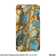 Blue Rusty Chipping Paint iPhone 6 Plus Case