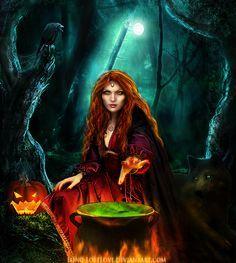 A feiticeira do bosque sombrio.