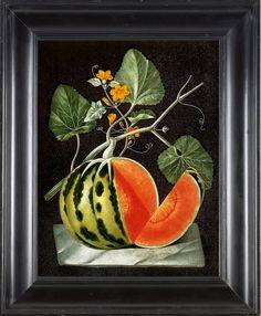 FRUIT PRINT Watermelon 8X10 Botanical Art Print by FleurDeNature