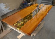 River bed table from Ancient Kauri wood www.ancientwood.com