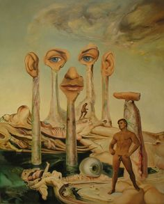 James Gleeson wagnerart Totems in Arcadia Artists And Models, Modern Artists, Contemporary Artists, Australian Painters, Australian Artists, Henry Thomas, Art Of Man, Art Society, Abstract Portrait