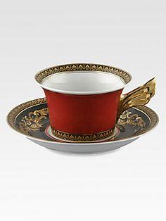 Versace Medusa Red Tea Cup