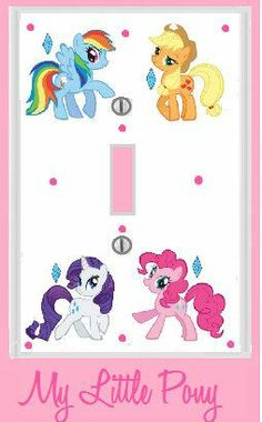 Items similar to MY LITTLE PONY Room Decor light plate cover Accessories pinky pie rainbow dash fluttershy rarity twilight sparkle applejack on Etsy Small Boys Bedrooms, Big Girl Rooms, My Little Pony Bedroom, My Little Pony Birthday Party, 4th Birthday, Little Poney, Bedroom Decor, Bedroom Ideas, Girl Decor