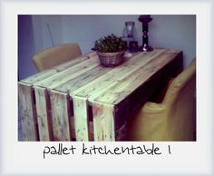Pallet kitchentable
