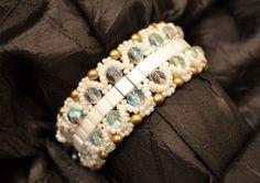 https://www.etsy.com/listing/110788863/white-tila-bead-beadwoven-cuff-bracelet