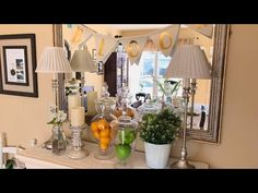 Spring Mantle Decor ~ 2017 - YouTube