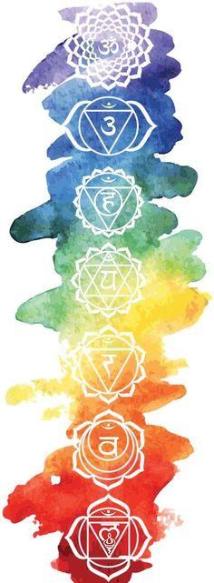 Buy 'The 7 Chakras' by as a Sticker. The 7 Chakras with watercolor background Chakra Tattoo, Chakra Art, 7 Chakras, Mandala Png, Painting Inspiration, Art Inspo, Chakra Symbole, Yoga Kunst, Chakra Painting