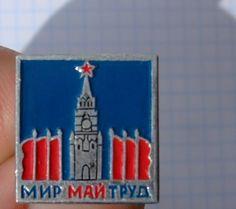 "USSR BADGE propaganda ""peace labor may"""