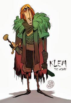2D Bean artblog- Concept art, visual Development, Doodles, and Illustrations of Brett Bean: Klem the weary