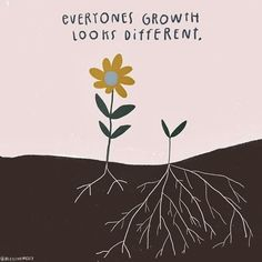 """This school year just remember, """"everyones growth looks different."""" - Thank you for the reminder - Tag your teacher friend. Pretty Words, Beautiful Words, Cool Words, Beautiful Lines, Words Quotes, Life Quotes, Sayings, Bloom Quotes, Inspirational Quotes"""