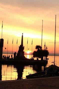 sunset #Lazise / garda lake - italy