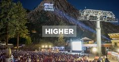 Squaw Valley event 'Higher' gobo.  Projected 2800ft out onto the mountain, image size almost 300ft