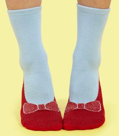 Dorothy Ruby Slipper Socks - Slip Resistant Novelty Socks