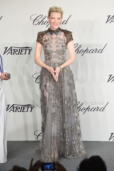Cate Blanchett working an incredible Valentino dress