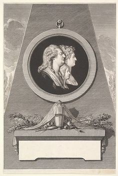 Funereal portrait of Louis XVI, Marie Antoinette and The Dauphin ca.1791.