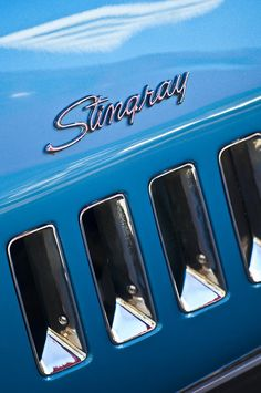 1969 Chevrolet Corvette Stingray Emblem. Makes me miss mine. I love those louvers. - LGMSports.com