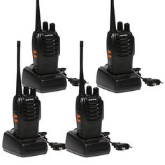 4 PCS Baofeng BF-888S Walkie Talkie UHF 5W 400-470MHz 16CH Two Way Portable Scan