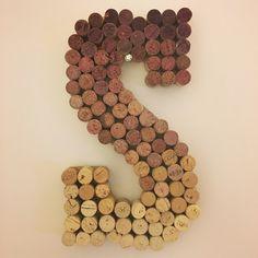 ombre wine cork letter s