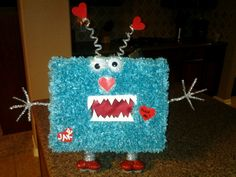 This is my son Jake's Valentines Monster box for Kindergarten! What fun it was to make for the both of us!!