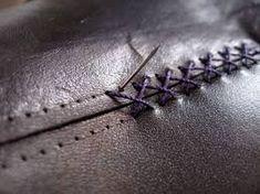 Resultado de imagem para leather stitch
