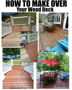 Step by step tutorial on how to clean and or refinish your deck!