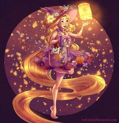 Witchsona: Rapunzel by ArtCrawl on DeviantArt Disney Princess Art, Disney Rapunzel, Tangled Rapunzel, Arte Disney, Disney Fan Art, Disney Magic, Disney Cartoons, Disney Movies, Disney And Dreamworks
